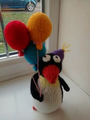 Handknitted Party Penguin From An Alan Dart Pattern For Christmas