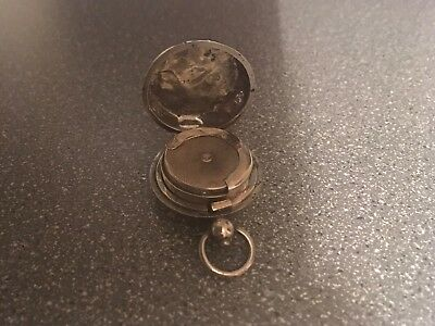 Antique Solid Silver Sovereign Holder Fob