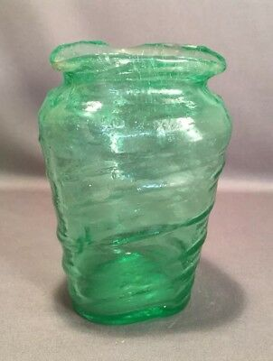 PHOENIX & CONSOLIDATED ART GLASS CATALONIAN GREEN VASE 1920s