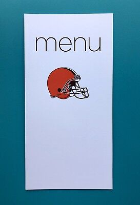 Virgin Atlantic Charter Menu— Cleveland Browns
