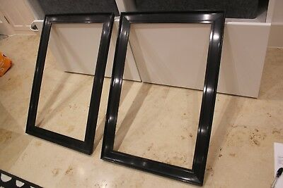 PAIR Vintage Antique Ebonised Black Picture Frames for Oil paintings or Tapestry