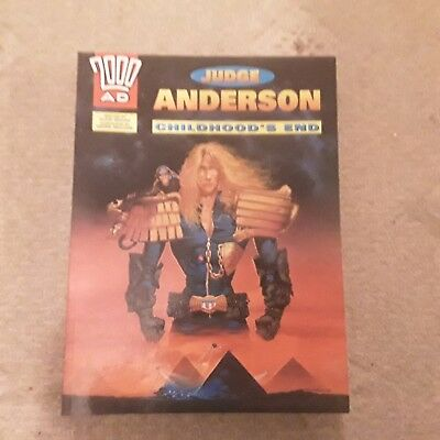 Judge Dredd  Judge Anderson  childhood's End 2000AD  graphic novel vintage comic