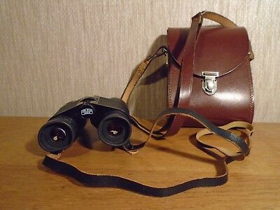 Carl Zeiss 8 & 32B Mc Notarem Binoculars Germany Ddr With Leather Case