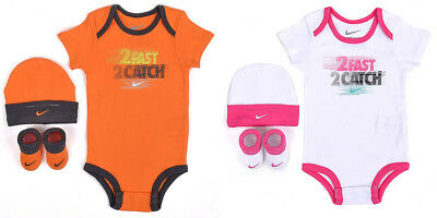 NIKE NYAB032S 2 FAST 2 CATCH COMPLETO 0 6 MESES BODY SOMBRERO CALCETINES BEBé