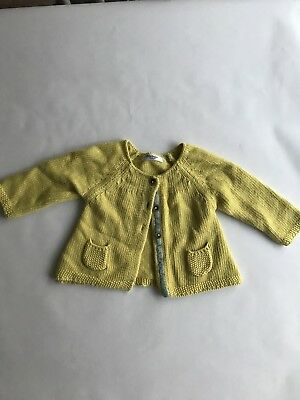 Baby Boden Yellow Cardigan 3-6 Months