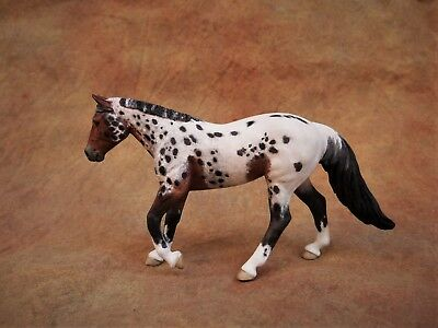 Breyer Custom Cm Stablemate Loping Quarter Horse Bay Appaloosa by Jayne Sabino