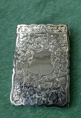 Attractive Silver Visiting Card Case, 1903