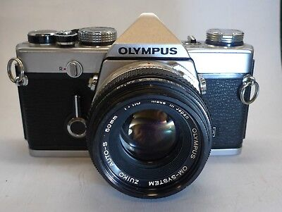 Olympus OM1 N camera with Olympus  Zuiko 50mm F1.8 Lens