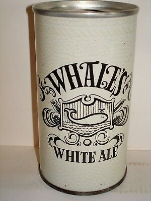 """WHALES WHITE ALE """"WHITE CAN"""" S/S Beer Can A191"""