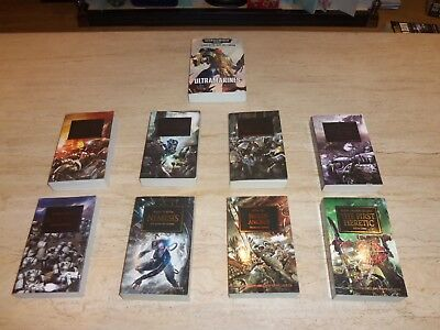8 x Games Workshop Warhammer 40K Horus Heresy Books