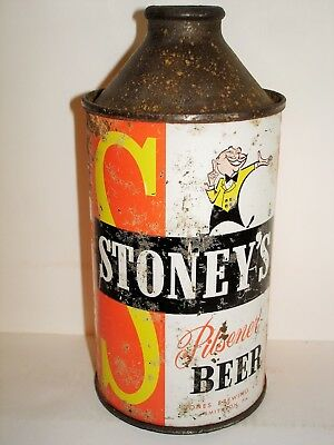 STONEY'S PILSENER BEER CONE TOP Beer Can A148