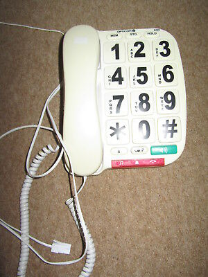 Opticom corded phone with very large buttons and numbers