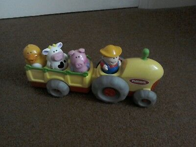 Playskool Musical Tractor with Farmer & 3 Animals Fully Working