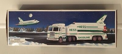 Hess 1999 Toy Truck and Space Shuttle with Satellite - Brand New In Original Box