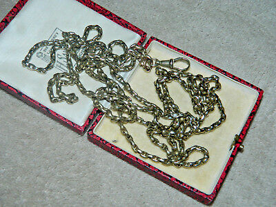 Vintage antique pinchbeck or brass 31.5 inch double guard chain