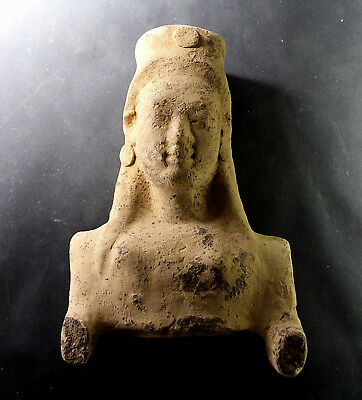 Archaic Greek Kore Bust, Metapontian, Terracotta, Second half of 6th century BC