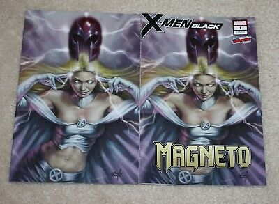 X-Men Black 1 Lucio Parrillo Emma Frost Nycc Excl Virgin Variant Set 2-Pk Hot!!