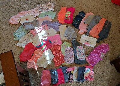 Girl 12 Month Summer Clothing Lot (over 35 pieces)