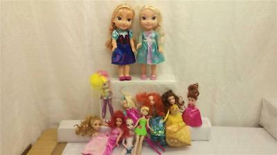 Collection of Mattel  Disney & Barbie Dolls (11 in total) I-0129-MY-W44)