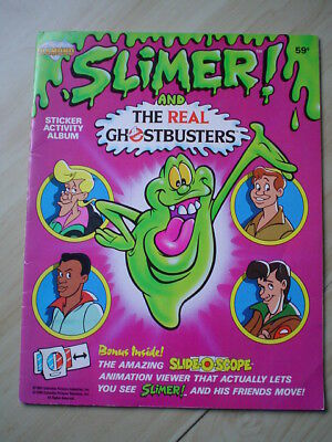 Diamond Slimer and the Real Ghostbusters Sticker Book 1986