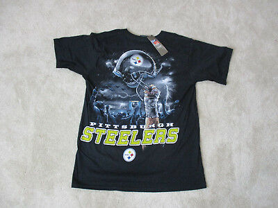 NEW NFL Pittsburgh Steelers Shirt Adult Medium Black Yellow Football Mens  90s a61a1e0d8