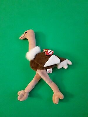 Ty Beanie Babies Stretch the Ostrich 1997