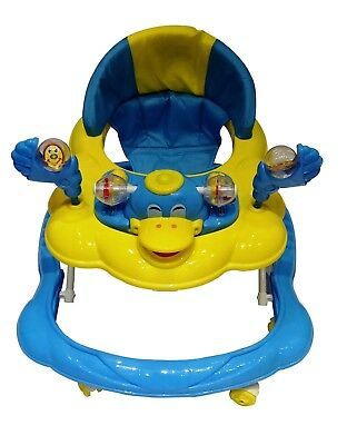 Baby Walker Push Along Blue Yello Duck First Steps  Bouncer Musical Ride On Toys