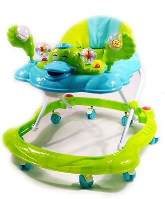 Baby Walker Push Along Duck Green First Steps Activity Musical Ride On Toys Tech