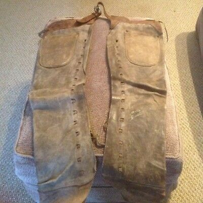 Old Vintage Leather Chaps