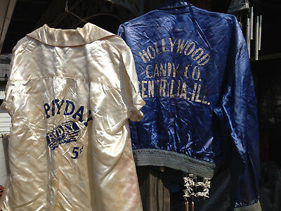 Vintage Hollywood Candy Co. Jacket & Work Shirt Payday Candy Bar 5 Cents Uniform
