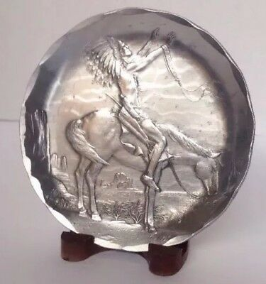 RARE Wendell August Forged Native American Indian Chief on Horse Art Collectible