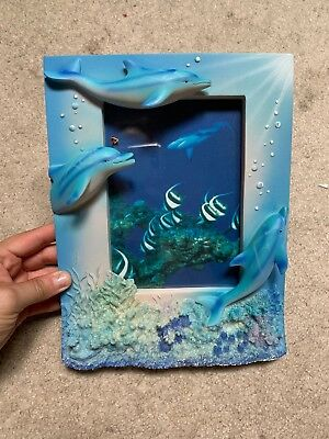 Dolphin photo frame for 4X6 photo 3 dolphins fast free shipping