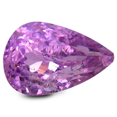 3.24 ct AAA Sparkling Pear Shape (10 x 7 mm) Pink Kunzite Natural Gemstone