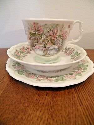 Royal Doulton Brambly Hedge Summer Cup And Saucer Trio 3 Pieces