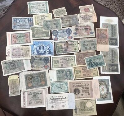 Lot of 40 Old 1920's  - German - Notes - Germany