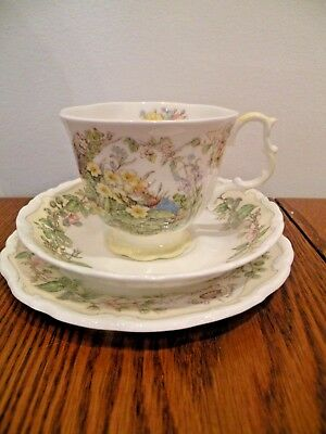 Royal Doulton Brambly Hedge Spring Cup And Saucer Trio 3 Pieces