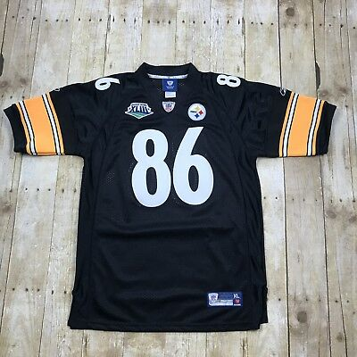 6abb8a3e0ea Hines Ward #86 Super Bowl XLIII Jersey Steelers Reebok On Field Youth XL (16