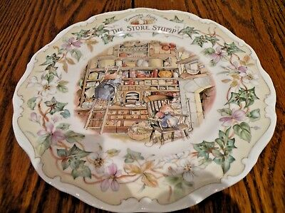 Royal Doulton Brambly Hedge  Plate 8 Inch The Store Stump