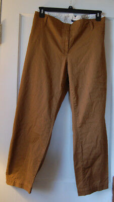 9b3f1ab5e4c NWOT Lands End Women s Plus Size 24W Fit 2 Mid Rise Chino Cropped Pants Tan