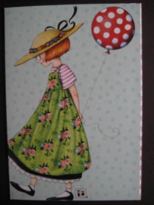 UNUSED vintage greeting card Mary Engelbreit BIRTHDAY w/ Bookmark, Happy Being U