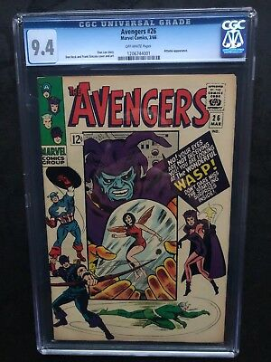 Avengers 26 !! Cgc 9.4 !! Classic Silver Age !! Awesome !!