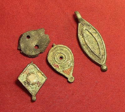 Lot of 4 Ancient Roman Enamelled Box Seal, 2. Century