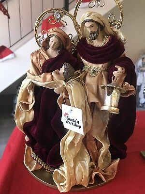 """Christmas In July Holy Family / Nativity Set 12.5"""" /32 Cm  Christmas Religious"""