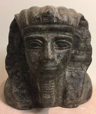 Antique Vintage Egyptian Carved Pharoh Mummy Statue Figure