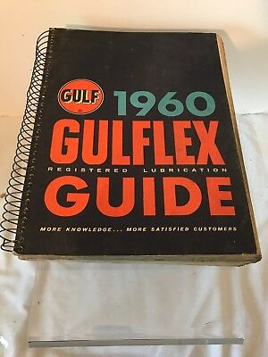 Vintage 1960 Gulflex Registered Lubrication Guide Gulf Oil For Cars & Truck
