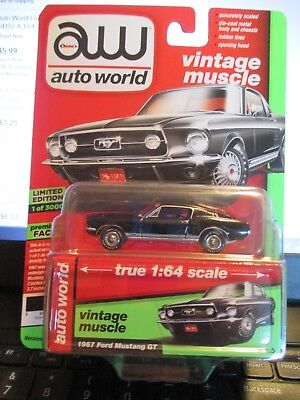 Auto World 1967 Ford Mustang GT (Vintage Muscle 1 of 3000)