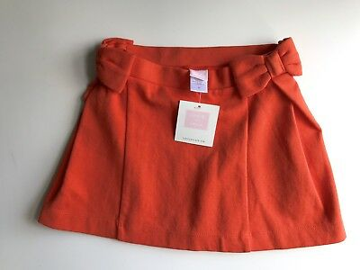 Janie And Jack Girls 2T Orange Skirt With Bows NWT