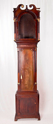 English inlaid mahogany grandfather clock case only @ 1785 High style Georgian