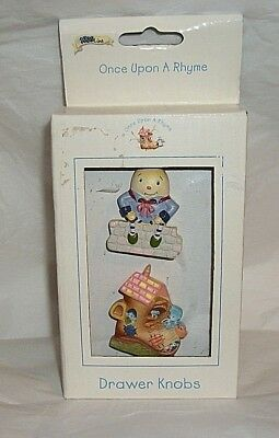 NIB Kidsline Once Upon A Rhyme Drawer Knobs Humpty Dumpty & Lived In A Shoe