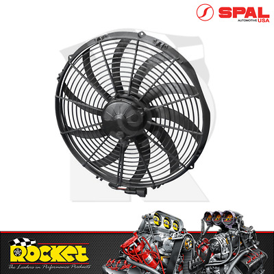 "Spal 16"" Extreme Electric Curved Blades Race Thermo Fan 3000CFM - SPEF3634"